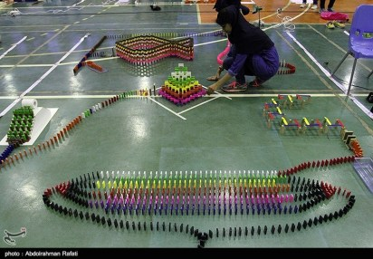Domino competitions in Hamedan, Iran (2015) 05