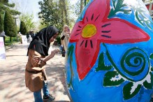 Tehran, Iran - Baharestan - Urban art event to welcome spring - 2016 (1394-1395) - 201
