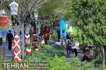 """Baharestan"" - Urban art event to welcome spring in Tehran, Iran - Photo credit: Shayan Mehrabi / Tehran Picture Agency"