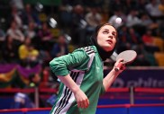 2016 ITTF Asia Olympic Qualification, Hong Kong - Iranian table tennis player Neda Shahsavari - 05