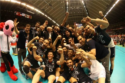 Rio 2016 - FIVB Men World Olympic Qualification Tournament (WOQT) in Japan - Iran vs. Poland - Volleyball team - 01