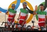 Rio 2016 - Cycling Road Race - M. Pourseyedi Golakhour, A. Moazami Goudarzi, Ghader Mizbani Iranagh - Olympic Games in Rio de Janeiro, Brazil