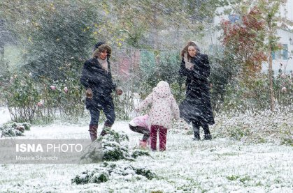 Autumn snow in the northern Iranian provinces (Photo credits: Mostafa Shanechi, ISNA)