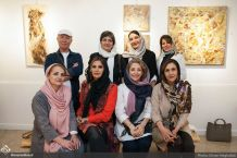 Works by Forugh Khoshnevis, Parvaneh Razzaqi, Mahta Moeini, Shahla Homayuni and other artists to raise funds for people with cancer. Tehran, May 2017. Photo credit Ehsan Neghabat, Honar Online