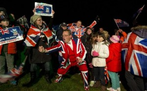 "Falklanders celebrate 98% ""Yes"" vote"