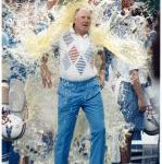 Pardee, the coaching the Oilers, is drenched after a victory over the Steelers in 1991