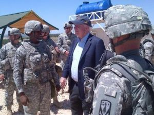 Senator McCain visits air defense troops in Turkey