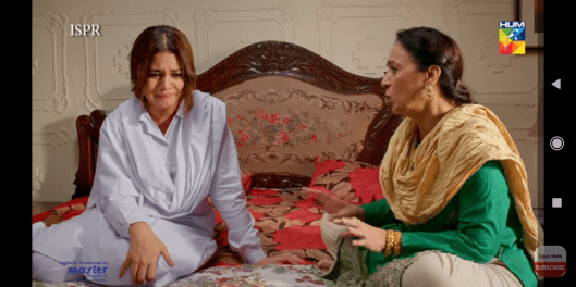 Rani making excuses with her mother