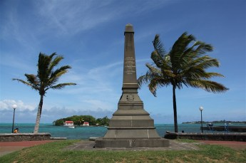Memorial commemorating a short-lived French victory over the British in 1810
