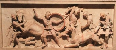 The Alexander Sarcophagus - a detail view.