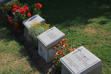 The graves are well cared for
