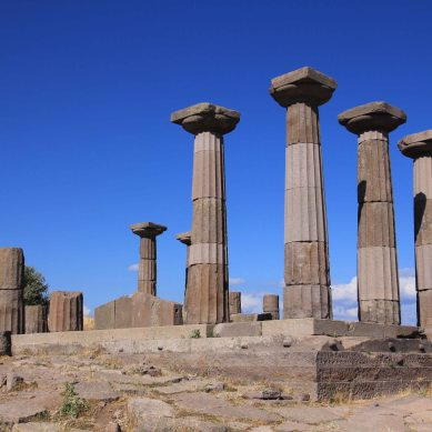 What's left of the Temple of Athena