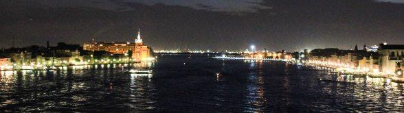Leaving Venice after dark. Still beautiful