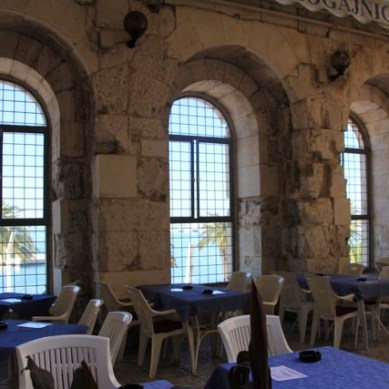 Now a cafe, once Diocletian's water view apartments