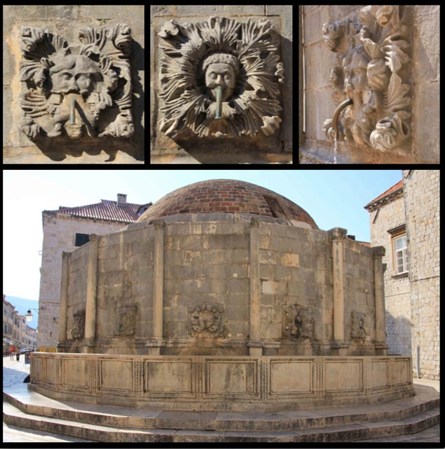 The Big Onofrio's Fountain (there's a little one too). Providing fresh drinking water for hundreds of years