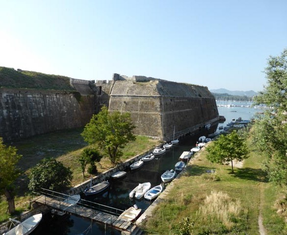 The moat separating the old Fortress from the main island of Corfu