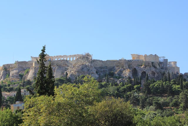 First view of the Acropolis from the Agora