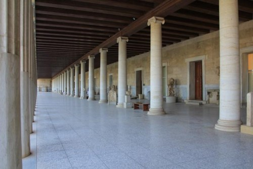 The reconstructed Stoa of Attalus