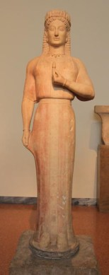 Statue from the grave of a woman, 550-540BC