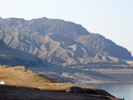 Stunning scenery as we drove along the coast of the Dead Sea