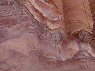Petra - amazing natural colours and patterns in the rocks.