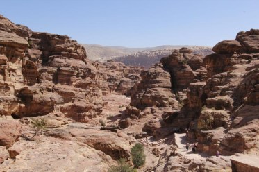 Petra - view from on high (Keith & Rob went up there, not me)