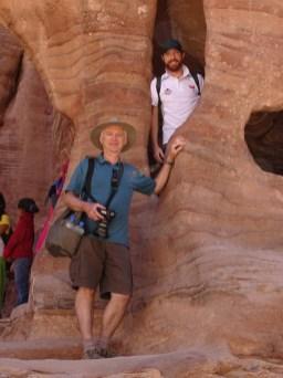 Petra - Rob & Keith visiting a Nabatean House