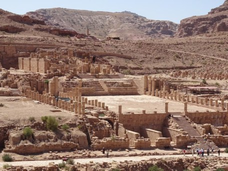Petra - a Roman temple, site of an ongoing excavation by Brown University.