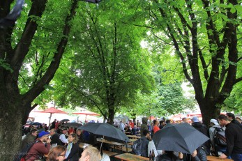 It was lovely under the canopy of trees, if a little wet.