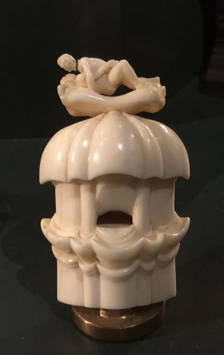 "Some of the ivory was frankly pornographic, even by today's standards. This was the mildest. Described as ""Shepherd's pipe with amorous couple."""