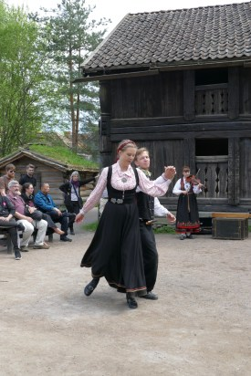 Traditional folk dancing demonstration