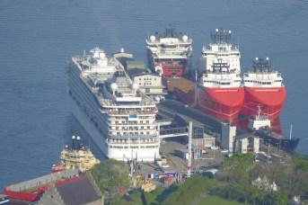 The Viking Sea in port