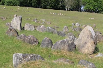 Many graves are shaped like viking ships