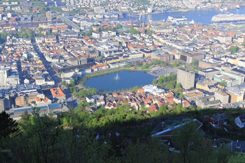 The more modern part of Bergen