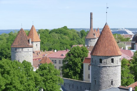 Some of the walls & towers of the old town