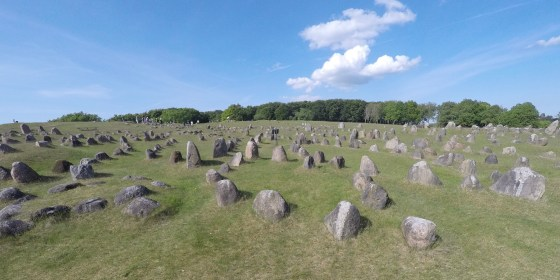 The stones are all original, as placed there by Vikings 1000 years ago