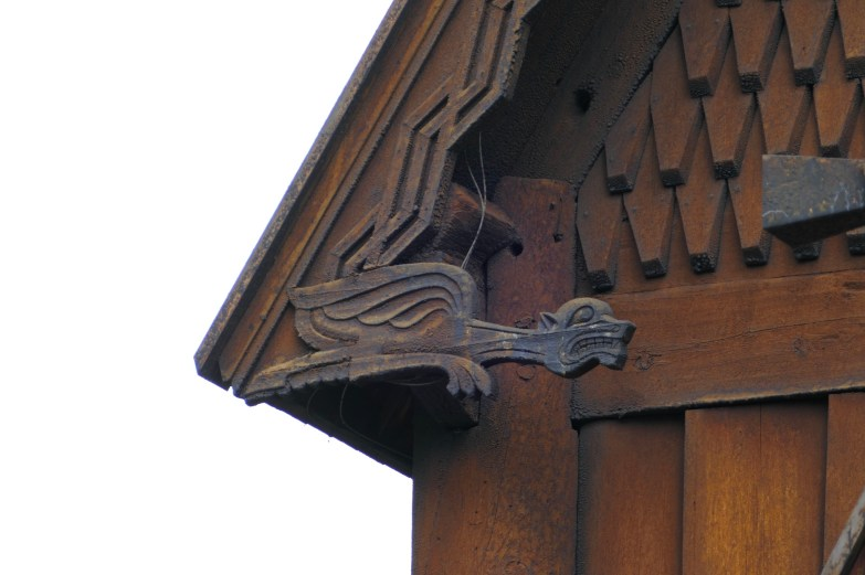Detail of decoration on the eaves of the Stave Church