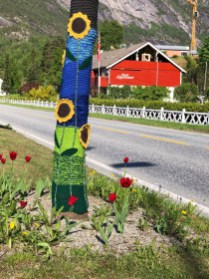 Eidfordian yarn-bombing