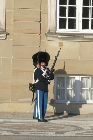 Guards at the Amalienborg Palace