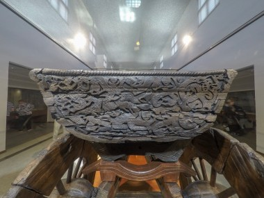 Cart found in the burial chamber to help the deceased in the afterlife.