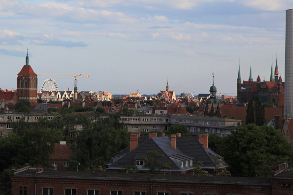View of the old town, nicely catching the evening light
