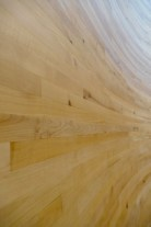It's hard to get a good photo, but I loved the gentle curves of the timber.