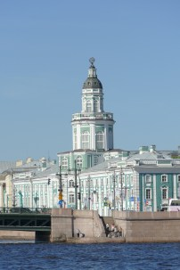 """The Kunstkammer (""""Cabinet of curiosities"""") Now the Museum of Anthropology and Ethnography, this was the first museum in Russia, and is one of the oldest in the world, founded by Peter the Great in 1718."""