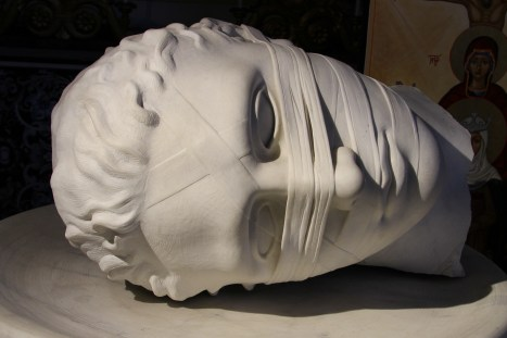 Santa Maria degli Angeli - Head of St. John the Baptist by Igor Mitoraj, 2006