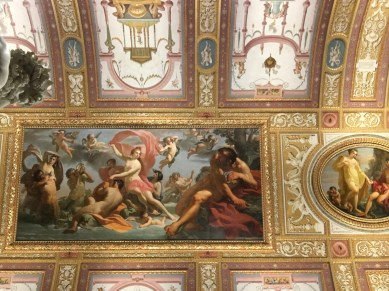 Paintings and frescoes on the walls and ceilings