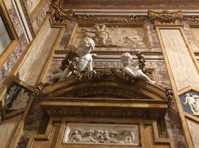 Angels guarding a doorway