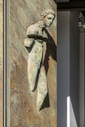 Santa Maria degli Angeli - interesting modern sculptural elements on the main entrance doors by Polish-born sculptor Igor Mitoraj