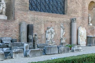 Spare bits of Roman stone.