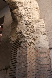 This shows the bricks that formed the structure of the building well.