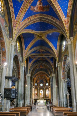 "The interior was restored in ""neo-Gothic"" style in the mid 1800s."